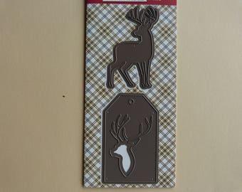 Deer cutting template