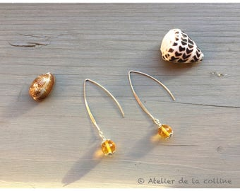 Earrings citrine thela variation collection