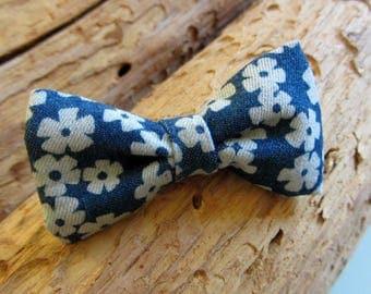 Hair clip bow floral jeans