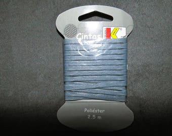 Grey Ribbon cord 2 m x 50