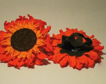 2 FLOWER CLIPS DECORATION 12CM RED CURTAIN ACCESSORIES