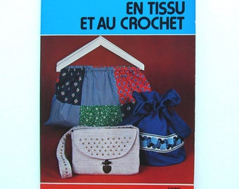 """Vintage """"Fabric and crochet bags"""" book Editions fish"""