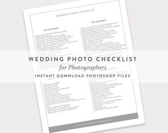 wedding photography checklist pdf