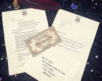 Hogwarts Acceptance Letter {Personalized!}