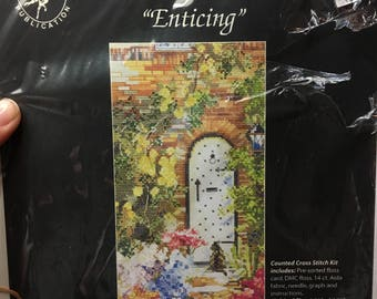 """Jeanette Crews Designs Marty Bell's """"Enticing"""" Fully Kitted Cross Stitch"""