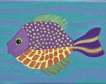 Purple Fish hanging around
