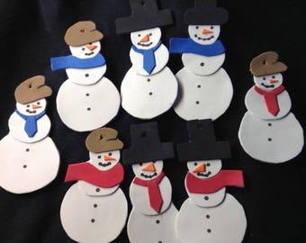 Snowman Christmas Ornaments. Handmade