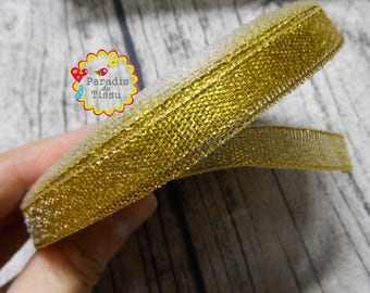 1 roll/22metres gold glittery Ribbon 1 CM
