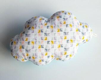 Handmade Pebble print cotton cloud cushion
