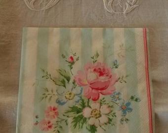 33 X 33 cm romantic bouquet pattern napkin / greengate