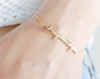 Custom Name Bracelet - Personalized Memorial Signature Bracelet - Name Bracelet - Personalized Bracelet- Baby name Bracelet - Her Name  BP02