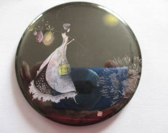 Pocket mirror round double-sided 56mm