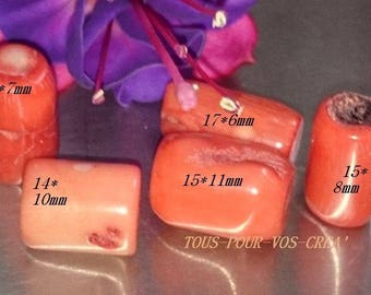 NATURAL orange GORGONE beads set