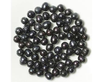 Pearls - 6-8 mm - black - 10 pc 4558550038579 bag
