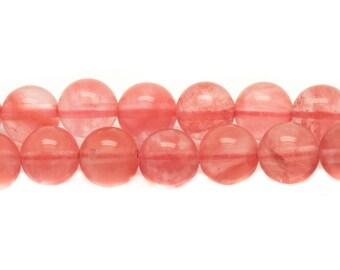10pc - stone beads - natural cherry Quartz 10mm 4558550037794 balls