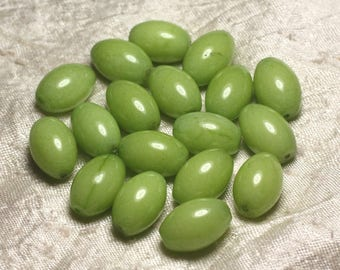 2PC - olive green 4558550015303 16x12mm Jade - stone beads