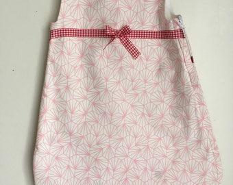 Sleeping bag pink newborn girl pink origami was
