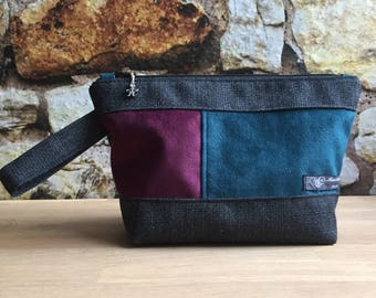 Project bag. Small, 1-2 skeins. A generously sized zipped pouch, perfect for knit or crochet.