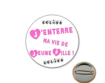 Bachelorette party end looking Ø25mm pin badge