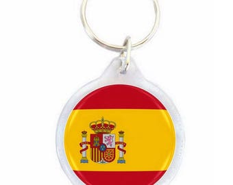 Spain - Ø40mm flag key chain
