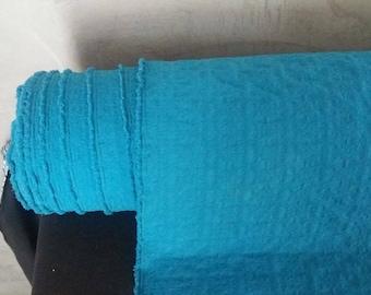 Lycra blue woven pattern width 85 cm