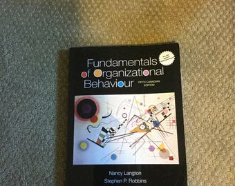 Fundamentals of Organizational Behaviour-Fifth Canadian Edition PAPERBACK (Used)