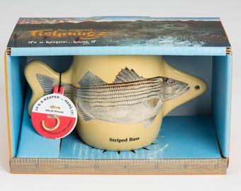 Striper coffee mug, striped bass coffee mug, popular fishing gift, popular fishing gifts