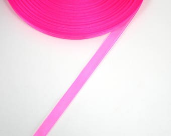 Pink neon 5 X 10 mm organza Ribbon meters