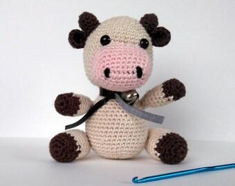 Cute little cow, made in crochet amigurumi plush