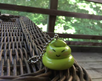 Wasabi Turd Keychain