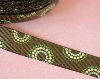 pretty Brown Ribbon with circles