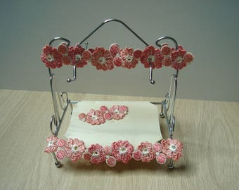 romantic ring chrome jewelry holder flowers
