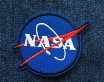 NASA Patch  - Iron on Patch, Sew On Patch, Embroidered Patch
