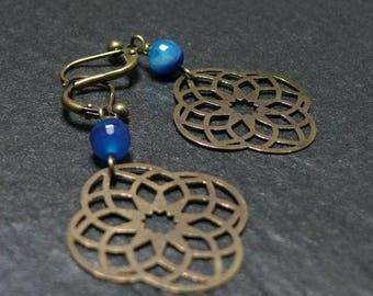 Vintage blue night Baltika earring