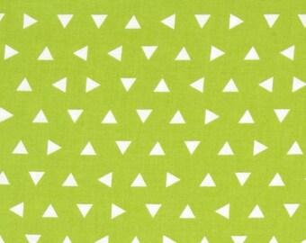 Fabric pattern graphic triangle Kaufman Apple green