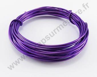 Transparent glass Ø 2 mm - purple - x 1 m