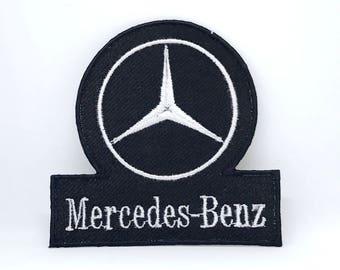569# Vintage Mercedes-Benz Racing Formula 1 Biker Iron/Sew-on Embroidred Patch
