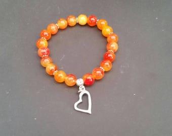 Watermelon Tourmaline Bracelet - 8 mm beads