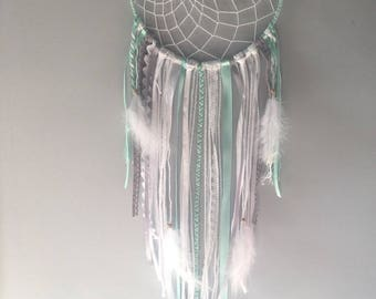 Dream catcher / Dream catcher white, gray and Aqua Green