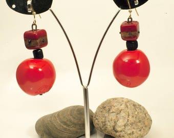 Red woman fancy trendy earring