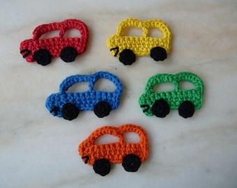 Car - handmade cotton crochet application