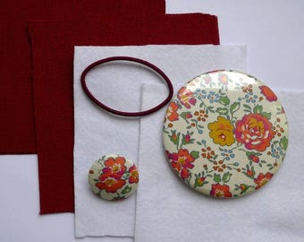 Kit to stitch a cover for a liberty fabric covered mirror bliss