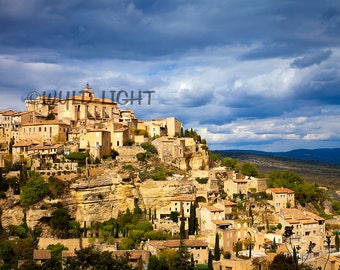A Stunning View of the Famous Hilltop Village in Gordes, France