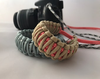 Custom handmade paracord camera wrist strap