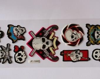 Plate 9 epoxy stickers stickers pirate skull