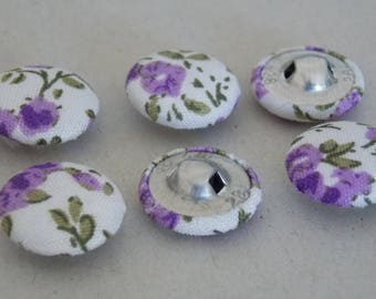 Fabric 17mm two hole round button ❤