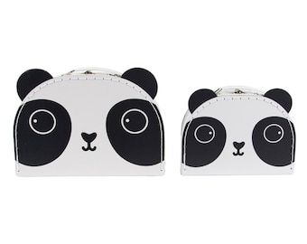 Set of 2 Panda cardboard suitcase