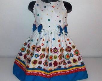 Printed cotton sleeveless girls dress