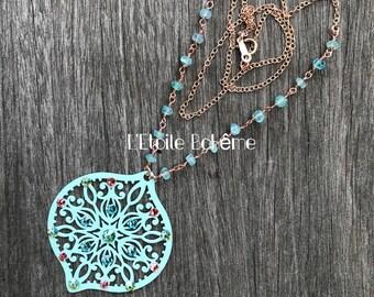 Aqua Baroque necklace