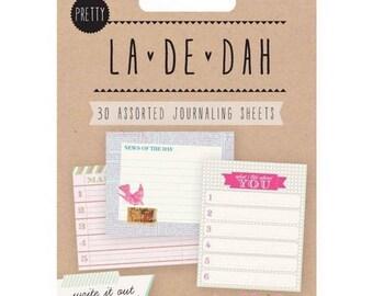 """Lot de 30 étiquettes tags spécial journaling à coller 1 """"La-De-Dah""""  décoration scrapbooking (ref.110)*"""